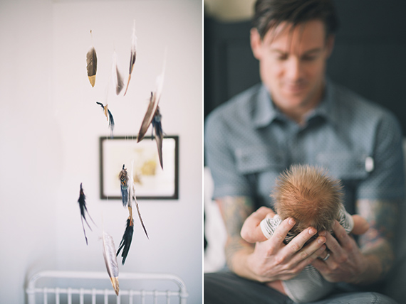 Newborn photos at home by Black and Hue Photography | 100 Layer Cakelet