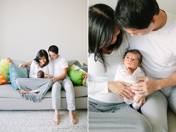 Modern newborn photos by Meg Perotti | 100 Layer Cakelet