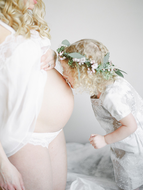 Studio mother-daughter maternity photos by Christie Graham Photography | Smitten Events | 100 Layer Cakelet