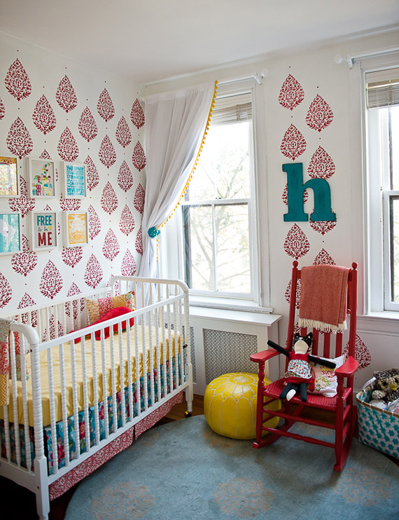 Hazel's bright, primary nursery |