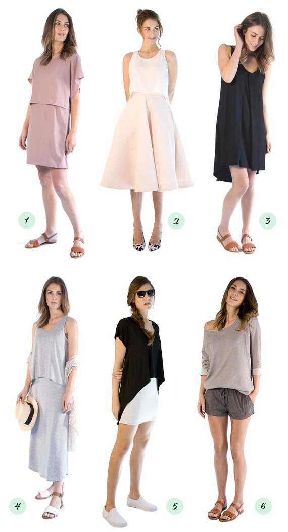 Modern nursing tops and dresses from Au Lait | 100 Layer Cakelet