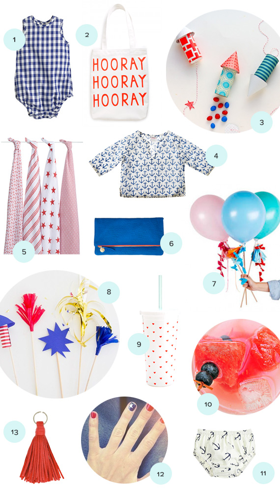 Red white and blue summer round-up | 100 Layer Cakelet