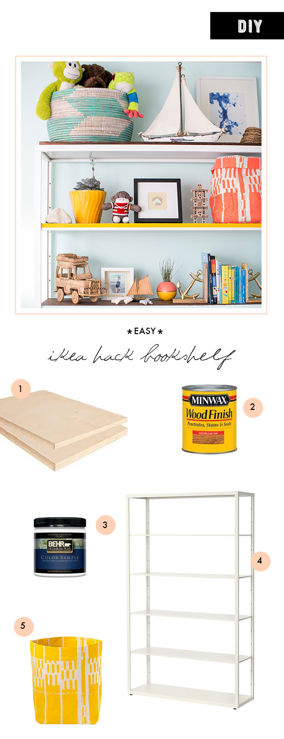 DIY ikea hack bookshelf  | 100 Layer Cakelet