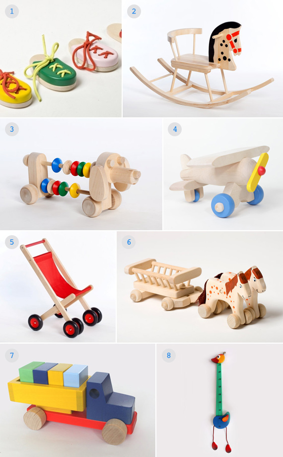 Handmade wooden toys from The Wooden Horse on Etsy | 100 Layer Cakelet