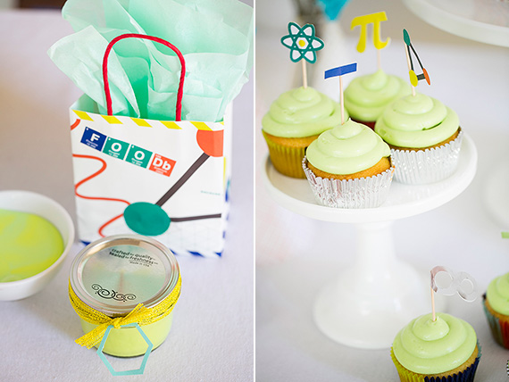 Science party ideas | Land of Nod party kits | Photos by Scott Clark | see more on 100 Layer Cakelet
