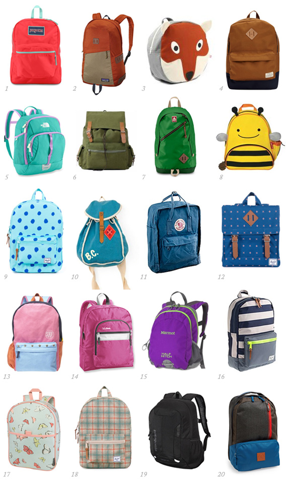 20 great backpacks for kids of all ages | 100 Layer Cakelet
