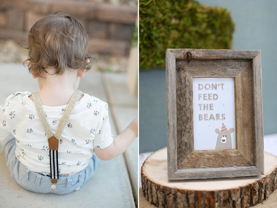 Baby bear birthday party by Natalie Ann Photography | 100 Layer Cakelet