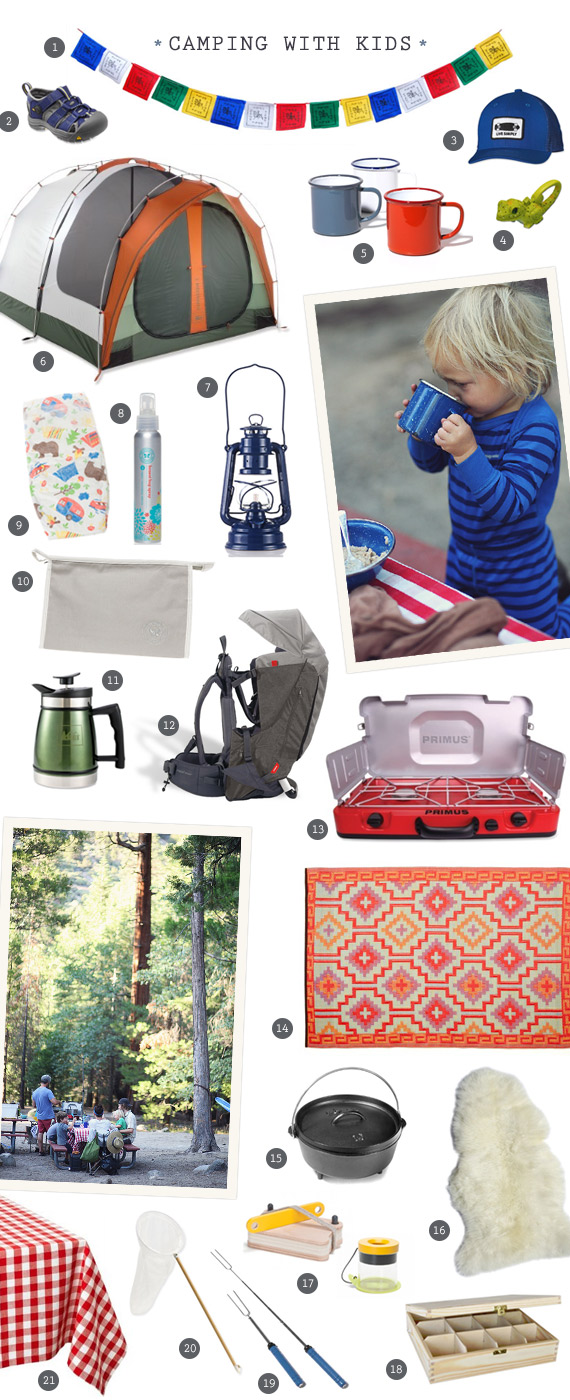 Gear for camping with kids | 100 Layer Cakelet
