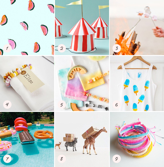 Summery pins | 100 Layer Cakelet