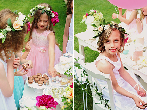 Girls garden tea party by Cacao Sweets & Treats | 100 Layer Cakelet
