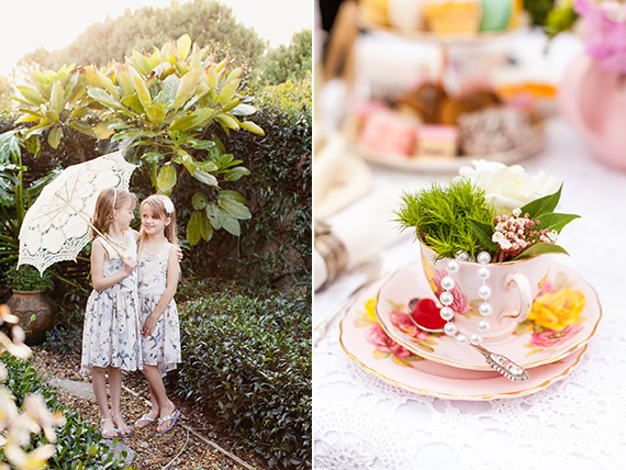 Girls backyard tea party by Courtney Horwood | 100 Layer Cakelet