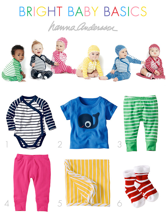 Bright baby basics from Hanna Andersson | Vintage style Swedish baby clothes | 100 Layer Cakelet