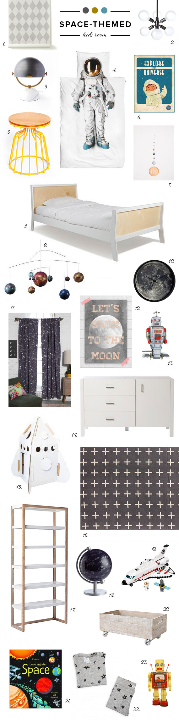 Space Themed Kids Room Ideas Nursery Kids Room Decor