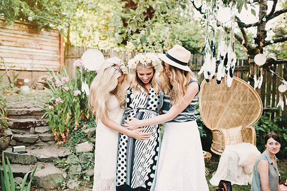 Bohemian backyard baby shower by Sunshine Charlie | 100 Layer Cakelet