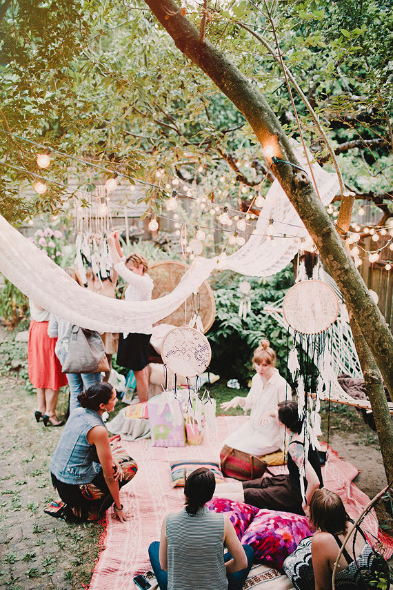 Bohemian Backyard Party : Bohemian backyard baby shower by Sunshine Charlie  100 Layer Cakelet