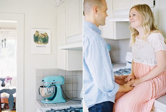 Pasadena maternity photos at home | The Great Romance Photography | 100 Layer Cakelet
