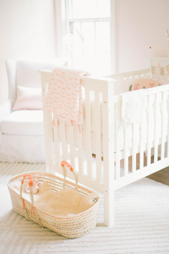 Soft peach vintage girl's nursery by Well Worn Co. | 100 Layer Cakelet
