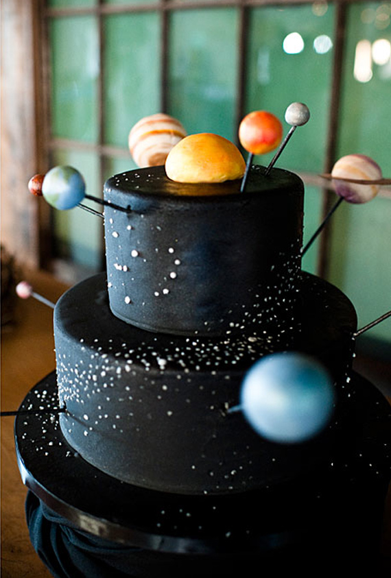 Outer space party ideas kids birthday parties 100 for Outer space cake design