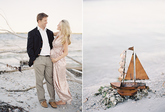 Beach maternity photos in Florida by Jessica Lorren Photography | 100 Layer Cakelet