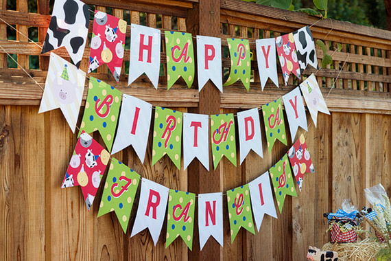 Barnyard Birthday Party with Minted party decor | 100 Layer Cakelet