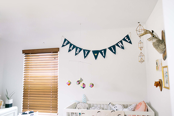 Black and white boy's nursery | photo by Alysha Rainwaters | 100 Layer Cakelet