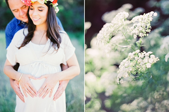 Bay Area maternity photos by Michele Beckwith | Flower crown by Natalie Bowen | 100 Layer Cakelet