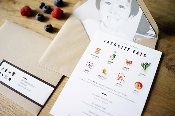 Theo's food-themed 2nd birthday by Good On Paper Design | 100 Layer Cakelet