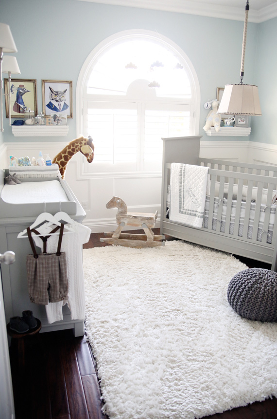 Everetts Neutral Grey Nursery Kids Room Decor