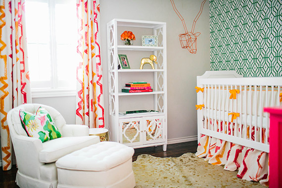 Hollywood Regency inspired nursery from Baby By Design | Heather Rowland Photography | 100 Layer Cakelet