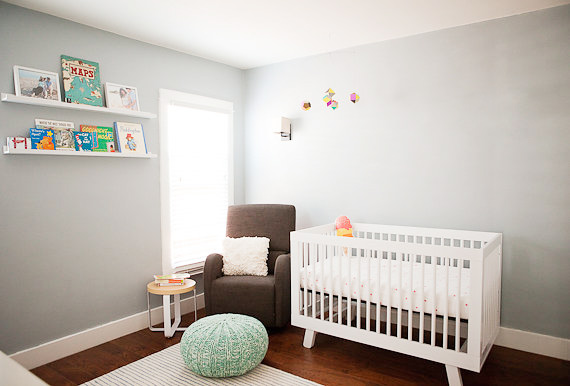 Modern girl 39 s nursery and newborn photos by stephanie for Modern nursery decor