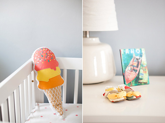 Modern girl's nursery and newborn photos by Stephanie Godfrey | 100 Layer Cakelet