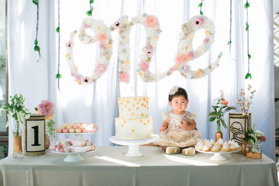 Floral 1st birthday for Ellie | Photos by Erin J Saldana | 100 Layer Cakelet