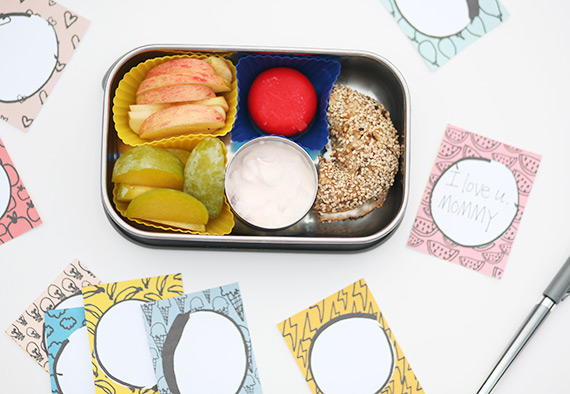 School lunch ideas + printable lunch notes from Good On Paper Design | 100 Layer Cakelet