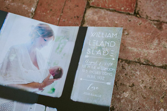 Modern birth announcements by Prim and Pixie | Wild Whim Photography | 100 Layer Cakelet