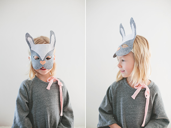 Simple DIY bunny costume from Little Bean Shop | Kelly Christine Photo | See instructions on 100 Layer Cakelet