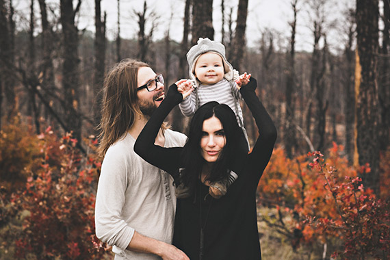 Gothic fall family photos by Briana Purser | 100 Layer Cakelet