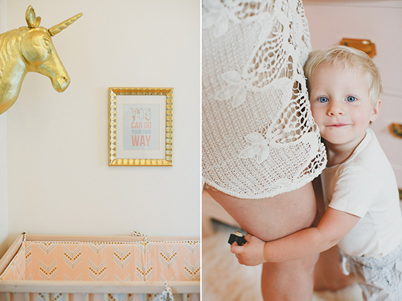 Pink and gold New York nursery from Lanie of Lovely Bride | Leigh Miller Photography | 100 Layer Cakelet
