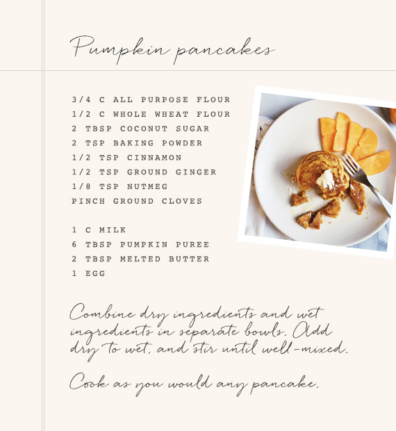 Pumpkin pancakes recipe | 100 Layer Cakelet