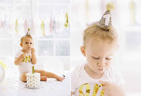 1st birthday cake smash from Caroline Tran | 100 Layer Cakelet
