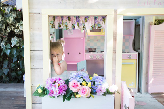 DIY pastel playhouse from Amber Events | 100 Layer Cakelet