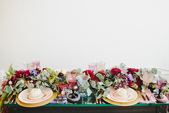 Bohemian Thanksgiving table by Beijos Events | Megan Welker Photography | MV Florals | 100 Layer Cakelet