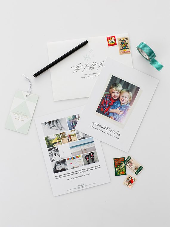 Custom holiday cards, gift tags, wrapping paper and decor from Minted | Photos by Scott Clark Photo | 100 Layer Cakelet