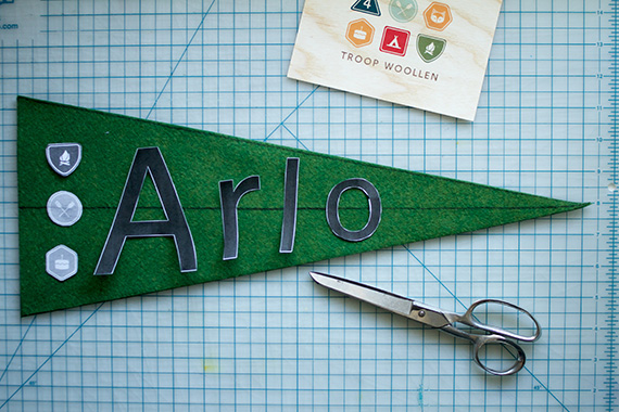 DIY felt pennant from Walnut Animal Society | 100 Layer Cakelet