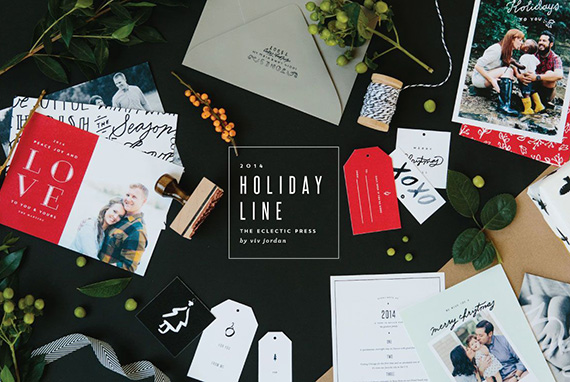 Custom holiday cards by Eclectic Press | 100 Layer Cakelet