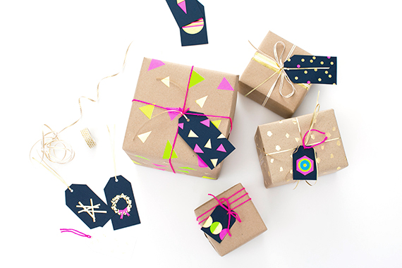 DIY gift tags with Avery labels and Crafting Community | Handmade Holiday December 13, 2014 | 100 Layer Cakelet