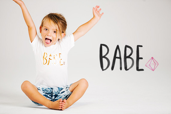 BABE tees and a giveaway on 100 Layer Cakelet