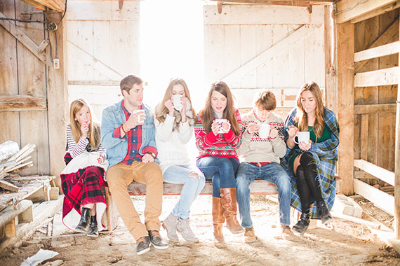 Rustic family photo ideas