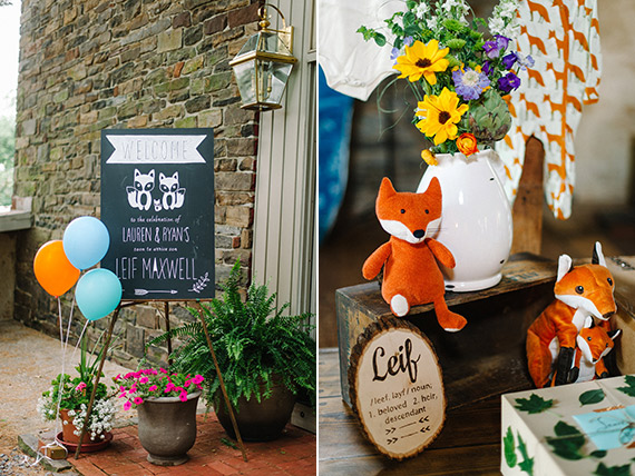 Fox and forest themed baby shower by M2 Photography | 100 Layer Cakelet