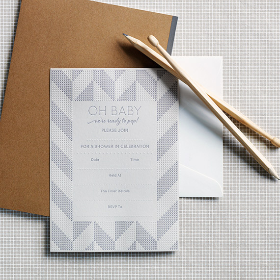 Lion and the Hunstman write-in letterpress invites | 100 Layer Cakelet