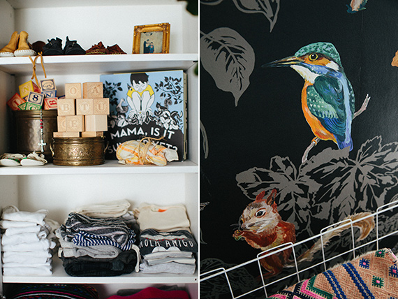 Modern bohemian boy's nursery by Hostess Haven and Jamie Street Photo | 100 Layer Cakelet